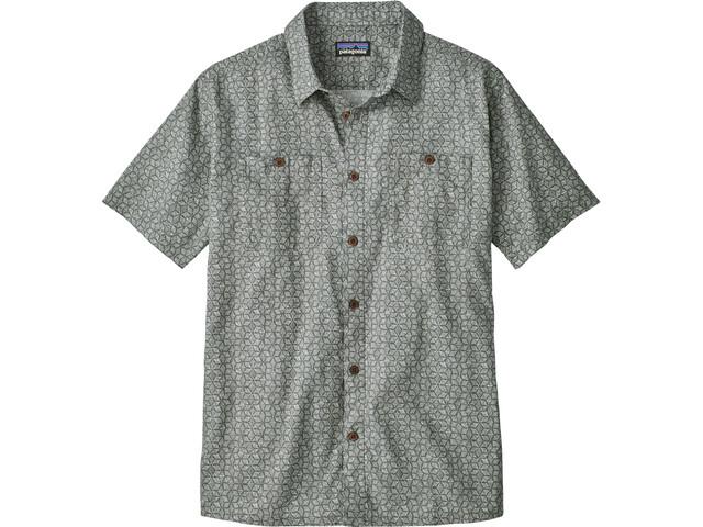 Patagonia Back Step Shirt Men Batik Hex Micro: Hex Grey